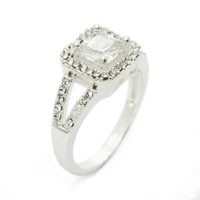 Sparkle Allure Womens White Cocktail Ring
