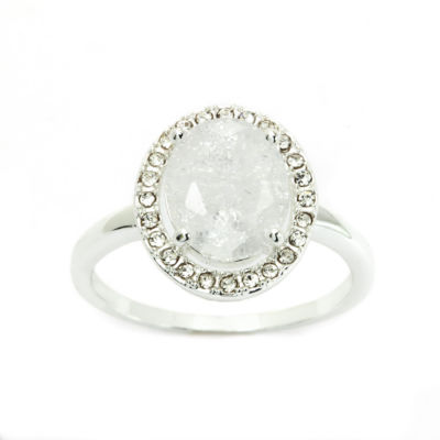 Sparkle Allure Womens Oval Cocktail Ring