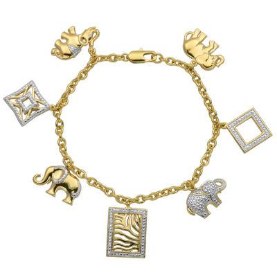 Sparkle Allure White Charm Bracelet