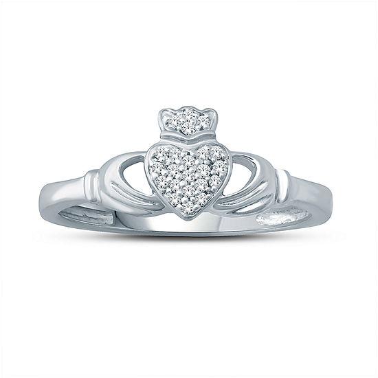 Womens 1/7 CT. T.W. Genuine Champagne Diamond 10K Gold Pendant Necklace