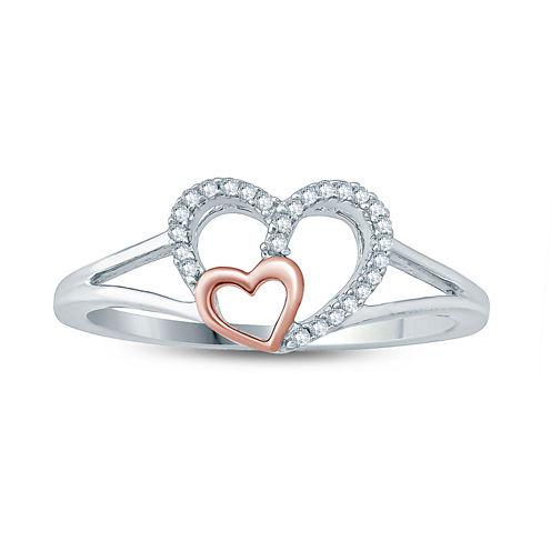 Womens Diamond Accent Genuine White Diamond 10K Gold Cocktail Ring