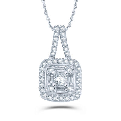 1/4 CT. T.W. White Diamond 10K Gold Pendant Necklace