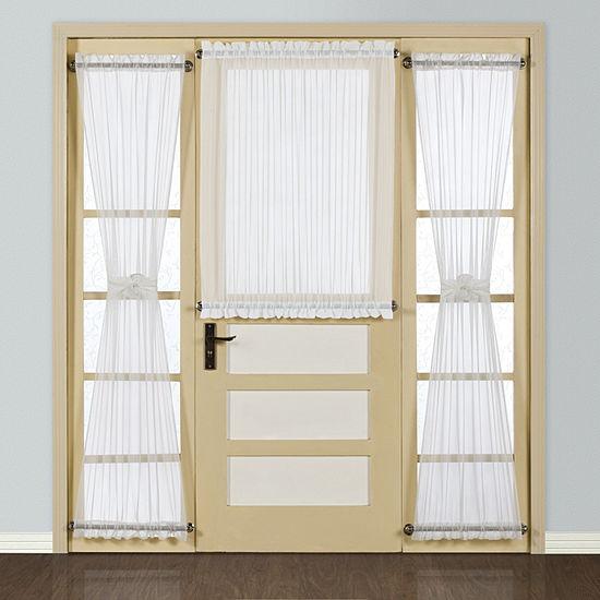 United Curtain Batiste Light-Filtering Rod-Pocket Single Door Panel Curtain