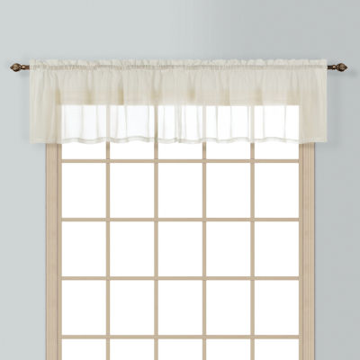 United Curtain Co. Batiste Rod-Pocket Valance