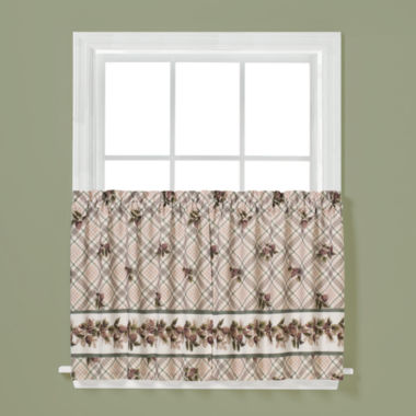 Saturday Knight Pinecone Rod-Pocket Window Tiers