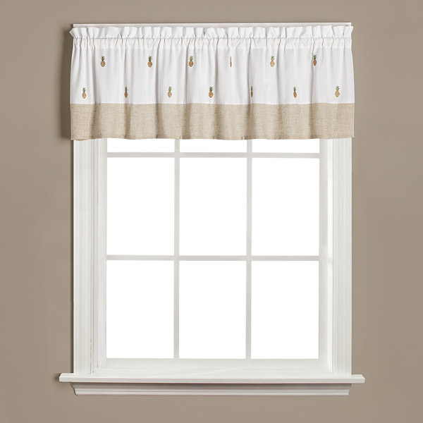 Saturday Knight Welcome Rod-Pocket Tailored Valance