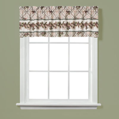 Saturday Knight Pinecone Plaid Rod-Pocket Tailored Valance