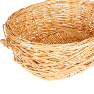 Household Essentials® Spring Bird Nest Willow Oval Basket
