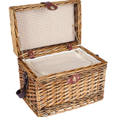 Household Essentials® Hand Woven Picnic Basket