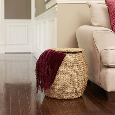 Household Essentials® Round Wicker Basket