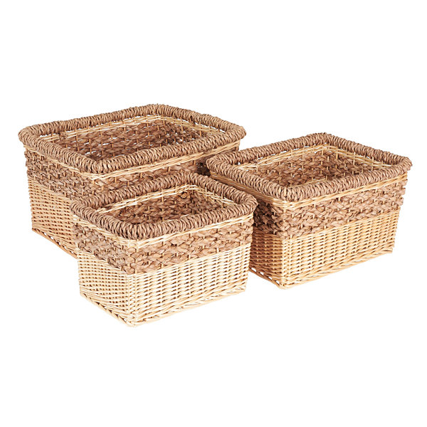 Household Essentials® Starling Wicker 3-pc. Basket