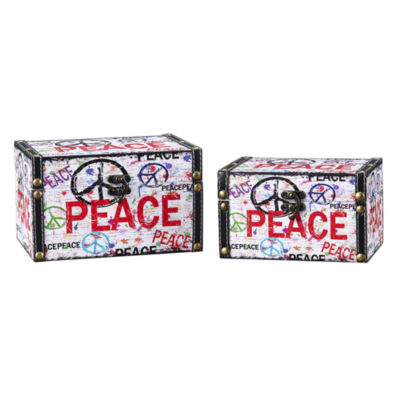 Household Essentials Peace 2-pc. Storage Bin