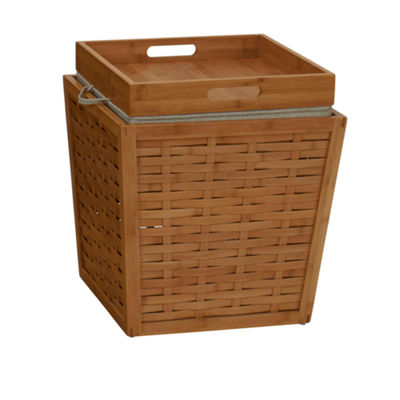 Household Essentials® Bamboo Storage Ottoman