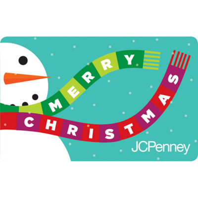 $10 Merry Christmas Snowman Gift Card