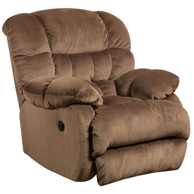 Contemporary Microfiber Power Recliner with Push Button