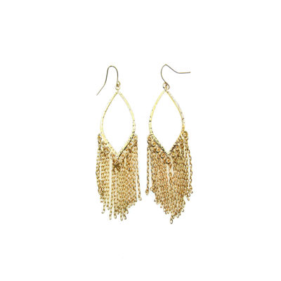 Bold Elements Brass Drop Earrings