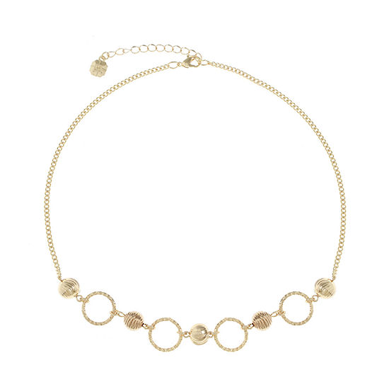 Monet Jewelry 17 Inch Curb Collar Necklace