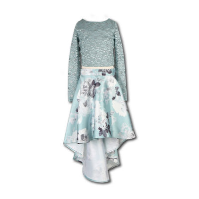 Speechless Long Sleeve Lace Sleeve Fit & Flare Dress- Big Kid Girls