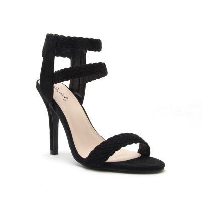 Qupid Womens Heeled Sandals