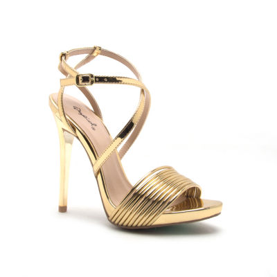 Qupid Womens Gladly-81 Heeled Sandals