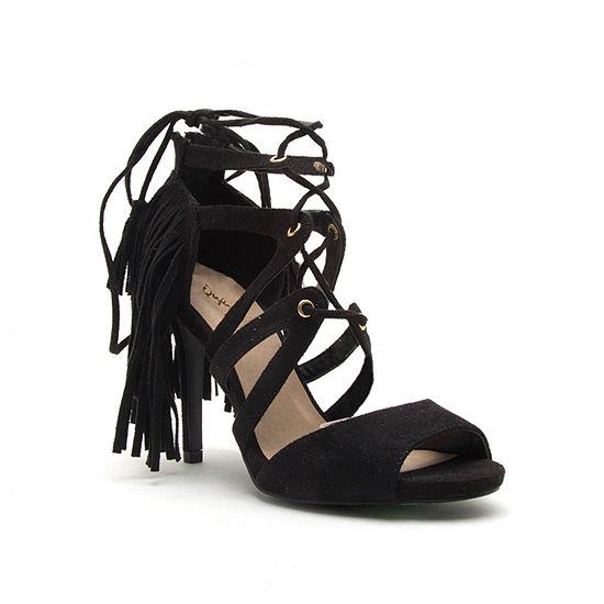 Qupid Womens Grammy-151 Heeled Sandals