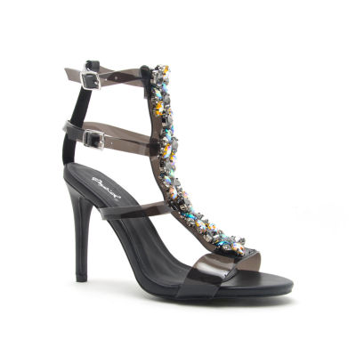 Qupid Womens Grammy-262 Heeled Sandals