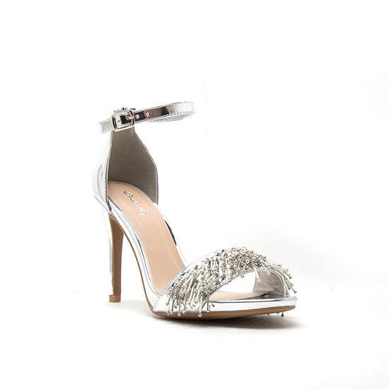 Qupid Womens Grammy-258 Heeled Sandals