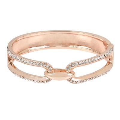 Worthington Rose Tone Bangle Bracelet
