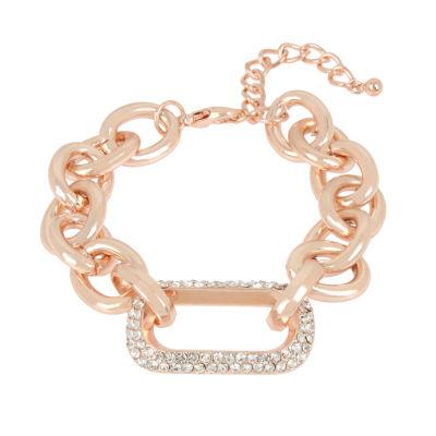 Worthington Rose Tone 7.5 Inch Link Bracelet