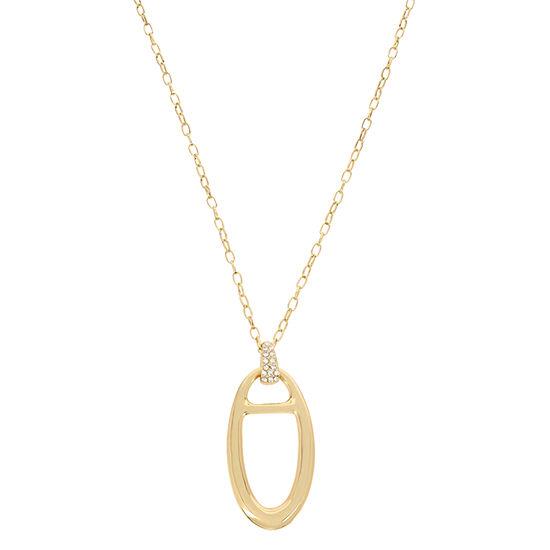 Worthington 31 Inch Link Oval Pendant Necklace