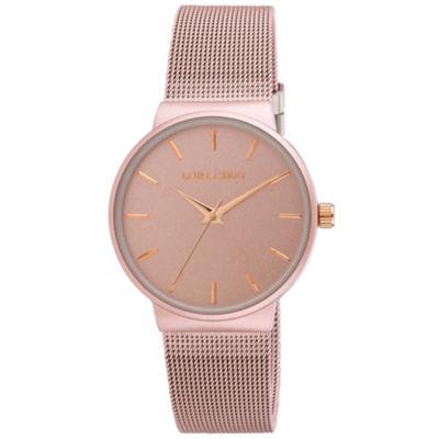 Laura Ashley Womens Pink Strap Watch-La31043pk