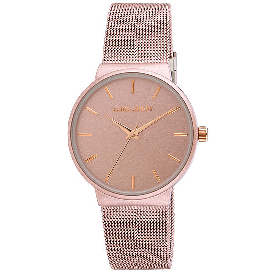 Laura Ashley Womens Pink Stainless Steel Strap Watch-La31043pk