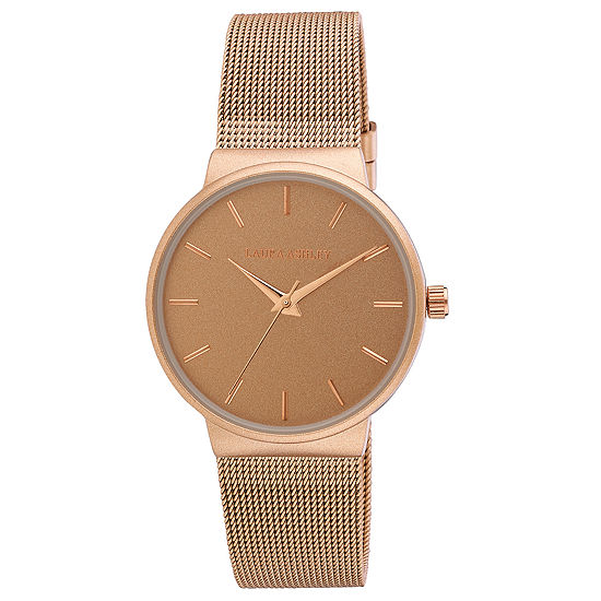 Laura Ashley Womens Stainless Steel Strap Watch-La31043rg