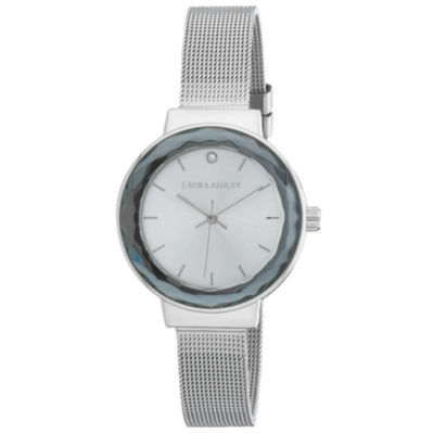 Laura Ashley Womens Strap Watch-La31044ss