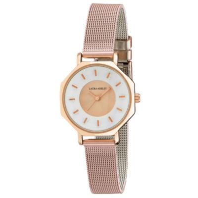 Laura Ashley Womens Pink Strap Watch-La31053pk