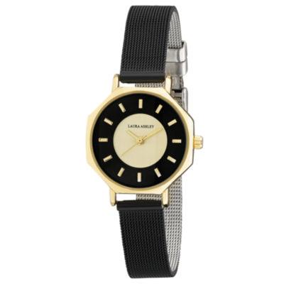 Laura Ashley Womens Black Strap Watch-La31053bk