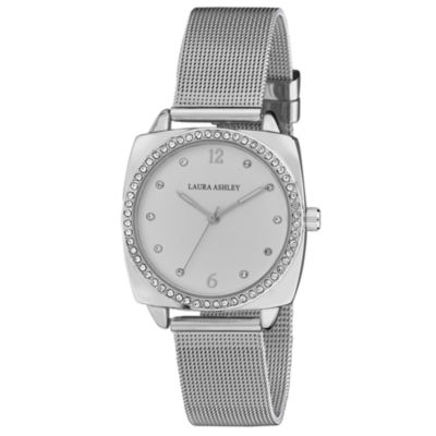Laura Ashley Womens Strap Watch-La31060ss