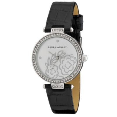 Laura Ashley Womens Strap Watch-La31067ss