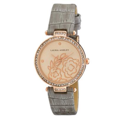 Laura Ashley Womens Strap Watch-La31067rg