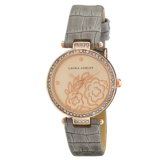 Laura Ashley Womens Strap Watch La31067rg