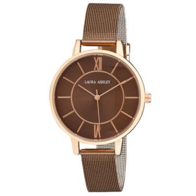 Laura Ashley Womens Brown Strap Watch-La31073bn