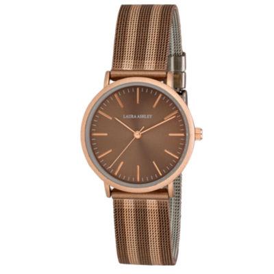 Laura Ashley Womens Brown Strap Watch-La31061rbn