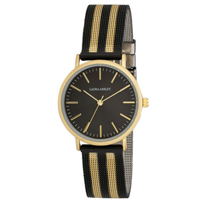 Laura Ashley Womens Black Strap Watch-La31061bk