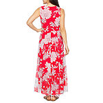 Studio 1 Sleeveless Floral Maxi Dress