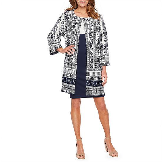 Danny & Nicole 3/4 Sleeve Jacket Dress