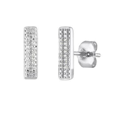 """Inspire"" Diamond Accent Genuine White Diamond Sterling Silver 11.6mm Stud Earrings"
