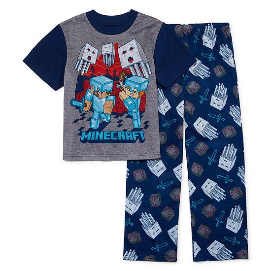 2-pc. Minecraft Pajama Set Big Kid Boys