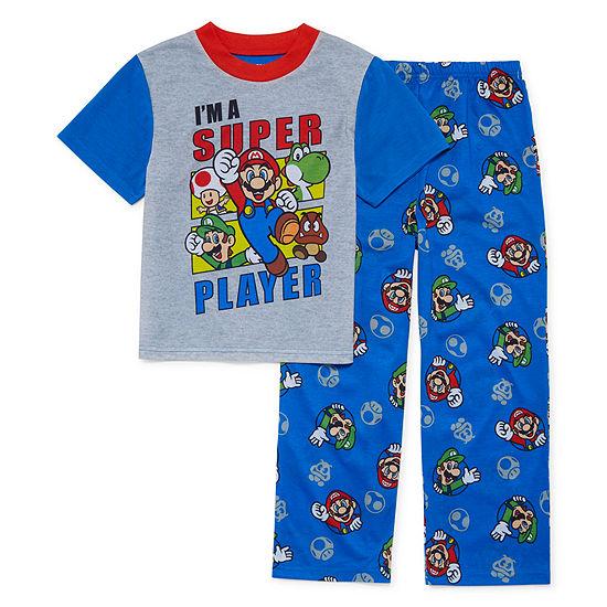Nintendo 2-pc. Super Mario Pajama Set Big Kid Boys