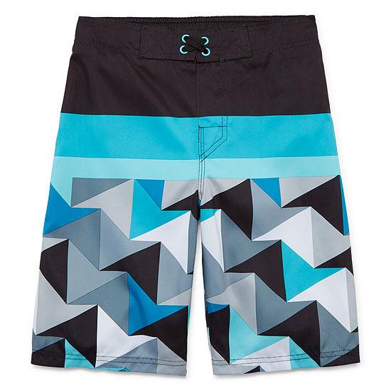 Arizona Boys Geometric Swim Trunks Preschool / Big Kid