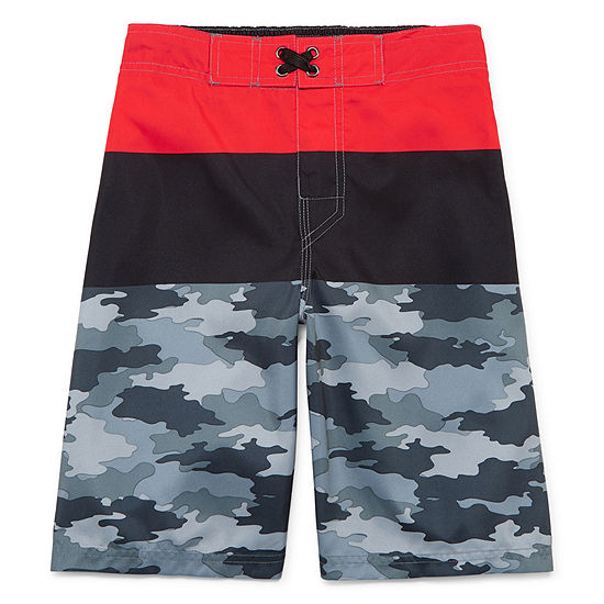 Arizona Boys Camouflage Swim Trunks Preschool / Big Kid